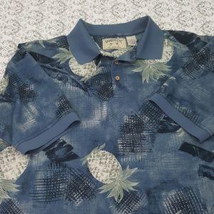 Bamboo Cay Fine Resortwear Tropical Polo Shirt XL